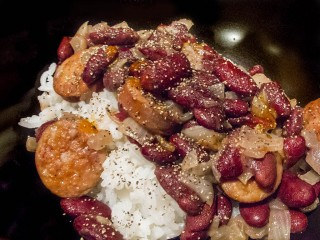I find it a governmental failure that Red Beans and Rice are not a food group.