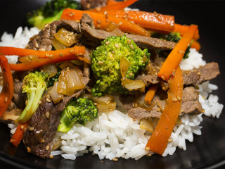 Beef & Broccoli, Nothing like a beef dish while at sea.